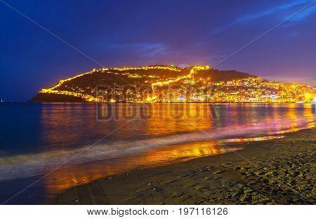Night On Keykubat Beach In Alanya