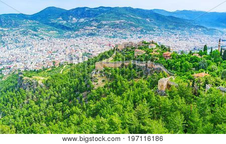 The Fortress Walls In Alanya
