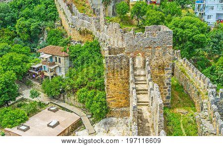 The Walk Along Alanya Fortress Walls