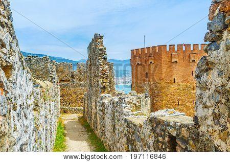 The Tower Among Alanya Fortress Ruins