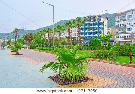 Landscaping Of Seaside Promenade In Alanya