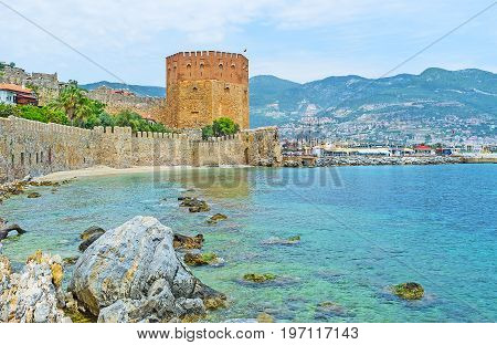 Alanya Fortress Behind The Boulders