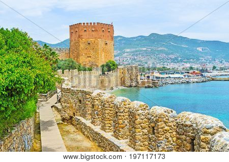 Tourist Route In Alanya Fortress