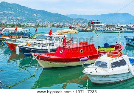 The Small Boats In Alanya Port