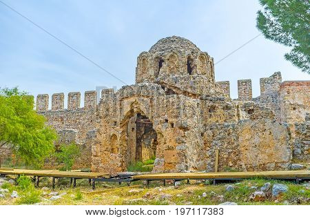 The Ancient Church In Alanya