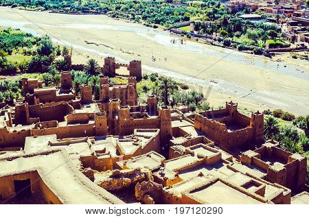 View on ksar Ait Ben Haddou in Morocco