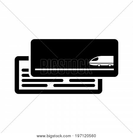 Train Ticket Icon Flat Style Simple Vector Illustration. Boarding Pass