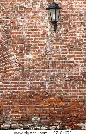 old red brick wall texture background. vintage brick wall texture