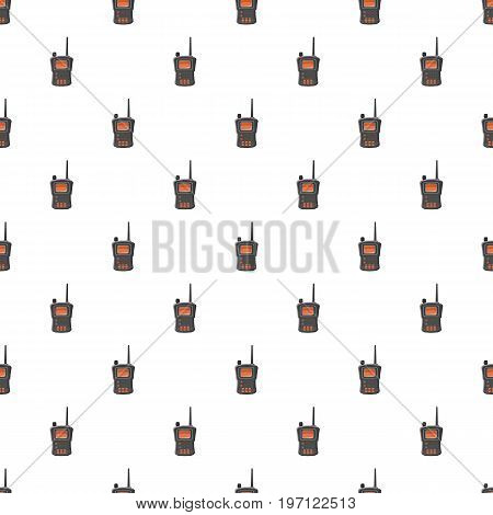Military radio transmitter pattern seamless repeat in cartoon style vector illustration
