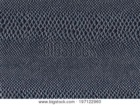 full frame scaled abstract dark blue reptile skin surface