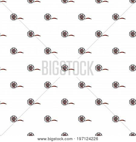 Film pattern seamless repeat in cartoon style vector illustration