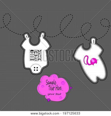 child fashion birth clothing cute illustration little wear bodysuit birthday baby