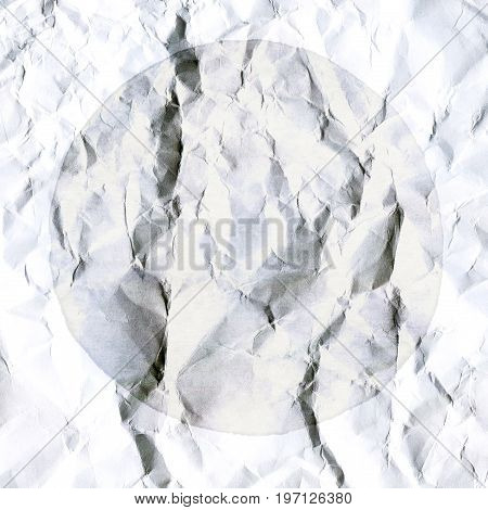 Abstract White Background Of Crumpled White Paper Sheet