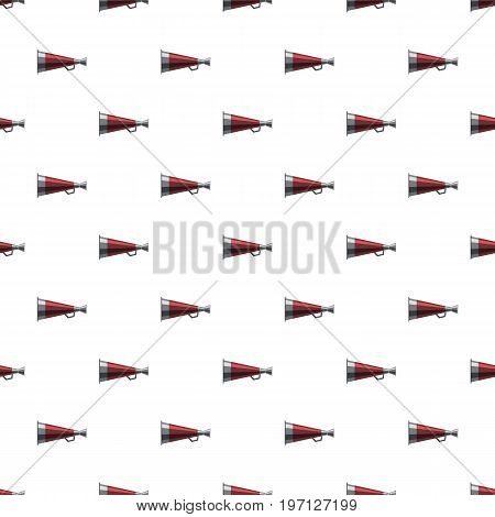 Mouthpiece pattern seamless repeat in cartoon style vector illustration