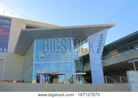 BRISBANE AUSTRALIA - JULY 8, 2017: Unidentified people visit Queensland Museum and Sciencentre in Southbank.