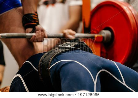 male athlete weightlifter competition powerlifting bench press