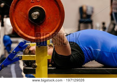competition powerlifting bench press attempt athlete powerlifter