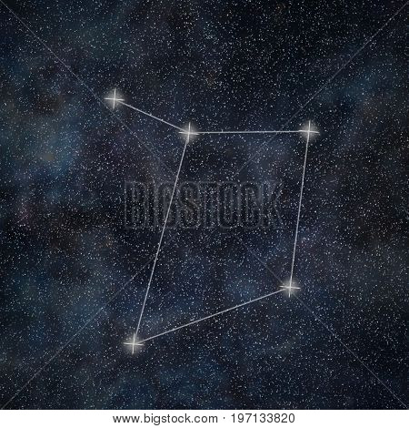 Libra Constellation. Zodiac Sign Libra Constellation Lines Galaxy Background