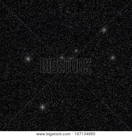 Constellation Cancer in night sky. Constellation Cancer
