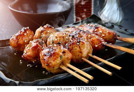 Japanese Meatball Grill  Tsukune.