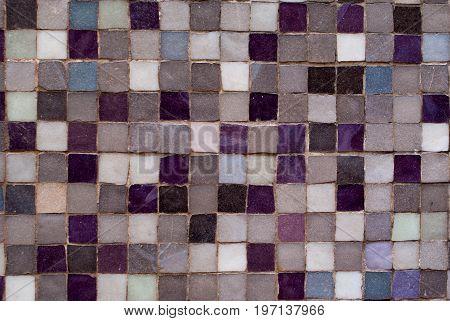 Violet And Grey Mosaic