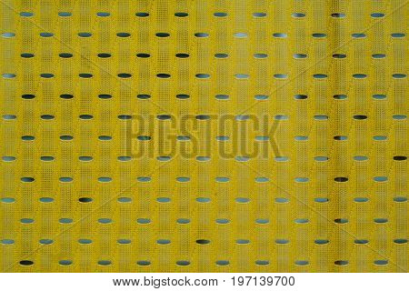 Close up of yellow polyester nylon yellow