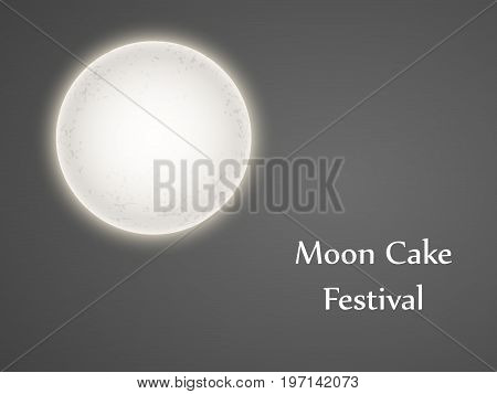 illustration of moon with Moon Cake Festival Text on the occasion of Mid Autumn Festival