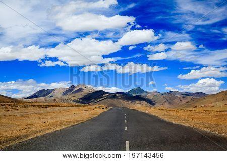 Road to the mountain Leh Ladakh India