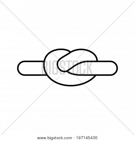 Rope Node Linear Style, Isolated. Bonded Twine. Retractable Hammer