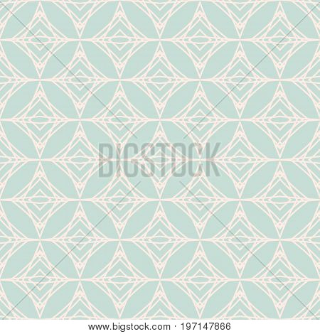 Abstract geometric pattern in dusty blue and light pink color. Seamless geometric background. Abstract vector pattern for webpage design
