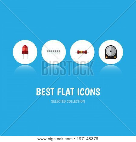 Flat Icon Appliance Set Of Hdd, Memory, Recipient And Other Vector Objects