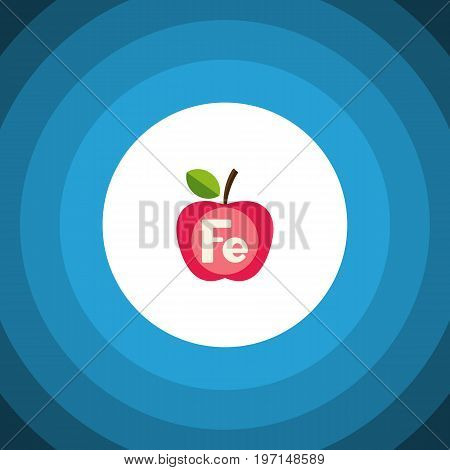 Apple Vector Element Can Be Used For Ferrum, Apple, Healthy Design Concept.  Isolated Ferrum Flat Icon.