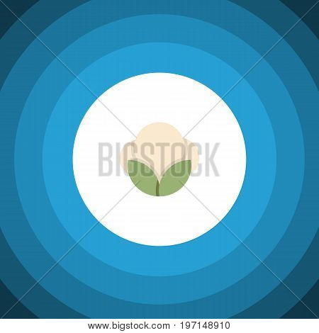 Fiber Vector Element Can Be Used For Fluffy, Cotton, Fiber Design Concept.  Isolated Fluffy Flat Icon.