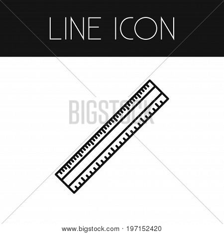 Length Vector Element Can Be Used For Length, Ruler, Scale Design Concept.  Isolated Scale Outline.