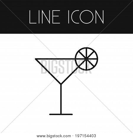 Martini Vector Element Can Be Used For Cocktail, Martini, Drink Design Concept.  Isolated Cocktail Outline.