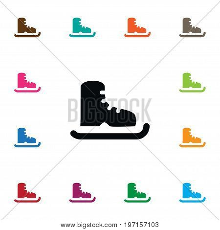 Skating Vector Element Can Be Used For Skating, Ice, Boot Design Concept.  Isolated Ice Boot Icon.