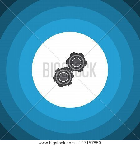Belt Vector Element Can Be Used For Pulley, Car, Belt Design Concept.  Isolated Pulley Flat Icon.