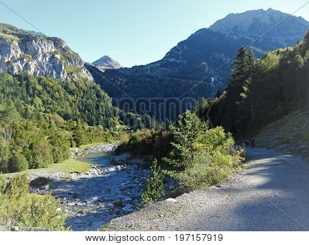 spectacular mountains of the National Park of Ordesa and Monte Perdido
