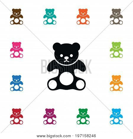 Cuddly Vector Element Can Be Used For Plush, Cuddly, Stuffed Design Concept.  Isolated Plush Icon.