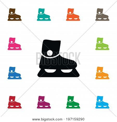 Footwear Vector Element Can Be Used For Sled, Footwear, Skate Design Concept.  Isolated Sled Icon.