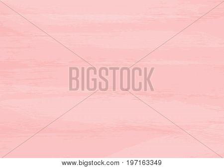 Light pink texture. Horizontal background. Watercolor grunge paint brushstrokes. Vector illustration.