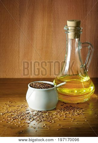 Linseed oil and flax seed
