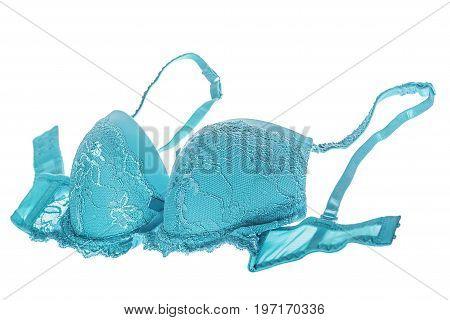Blue Silk Bra