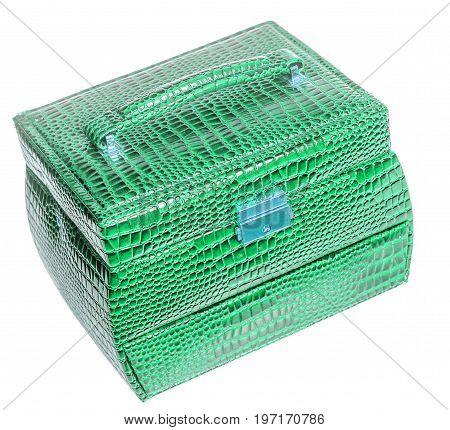 Green Leather Jewelry Box