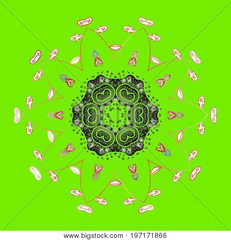 Flat design. Vector illustration. Snowflake icon isolated. Vector nice snowflakes on colorful background.