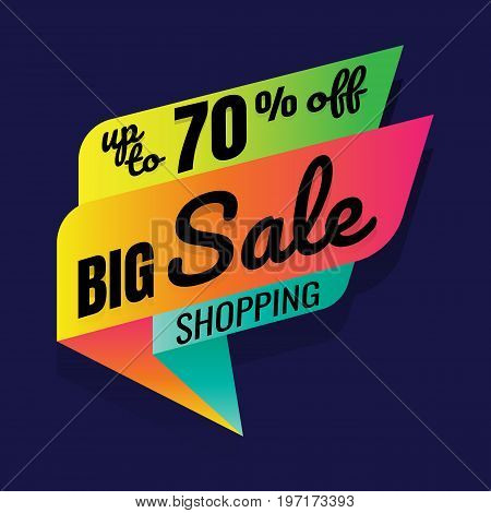 Super Sale this weekend special offer banner up to 70% off. Vector illustration.. price tag. SALE colorful. percent. discount. Super sale banner. Sale poster vector. sale sign discount. on blue background