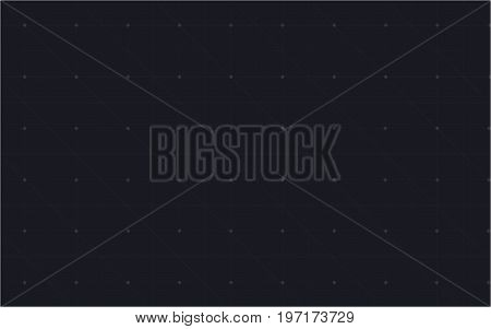 Abstract image of a futuristic technology in the form of a grid, consisting of points, lines, and shapes. Vector technology concept. Virtual reality background concept. Vector illustration