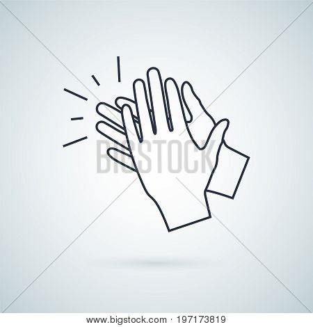 clapping hand icon, illustration isolated vector sign symbol.Hand clap vector illustration. Applause icon