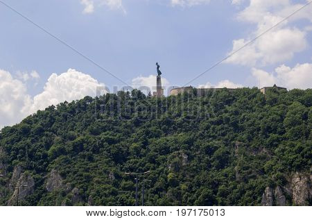 the Gellert mountain in budapest - hungary