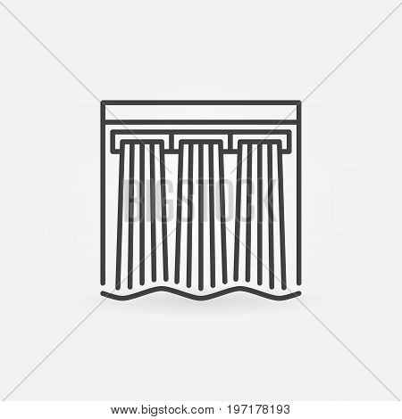 Hydroelectricity vector icon - hydroelectric dam outline sign